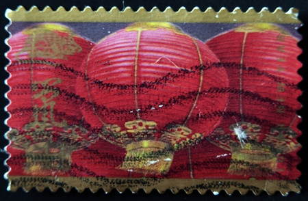 UNITED STATES OF AMERICA - CIRCA 2008: A stamp printed in USA dedicated to lunar new year, circa 2008 photo