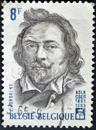 BELGIUM - CIRCA 1965: A stamp printed in Belgium shows Jordaens, circa 1965  Stock Photo - 11805109