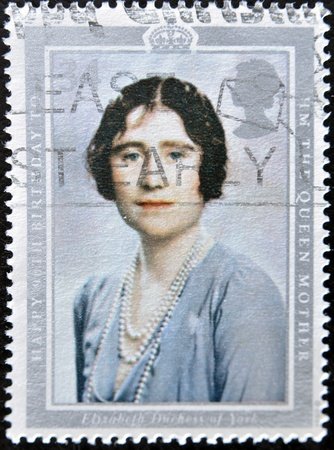 UNITED KINGDOM - CIRCA 2002: A stamp printed in Great Britain shows Queen Elizabeth, the queen mother, circa 2002