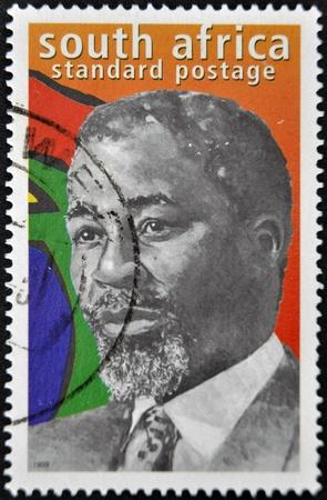 apartheid: REPUBLIC OF SOUTH AFRICA - CIRCA 1999: A stamp printed in RSA shows Nelson Mandela, circa 1999  Editorial