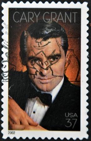 cary: USA - CIRCA 2002 : stamp printed in USA shows Cary Grant English-American actor, circa 2002