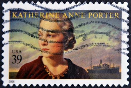 katherine: UNITED STATES OF AMERICA - CIRCA 2006: A stamp printed in USA shows Katherine Anne Porter, circa 2006