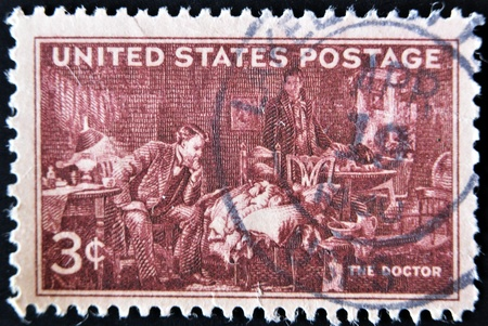 USA - CIRCA 1947: A stamp printed in the USA shows The Doctor, circa 1947