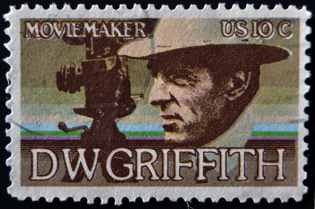UNITED STATES - CIRCA 1975: stamp printed in USA shows DW Griffith, circa 1975  Stock Photo - 11805120