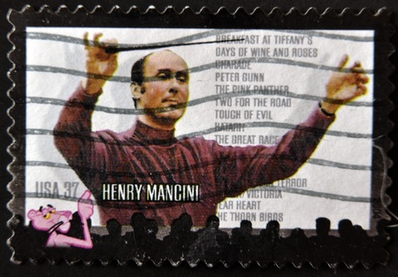 UNITED STATES - CIRCA 2004: stamp printed in USA shows Henry Mancini, circa 2004