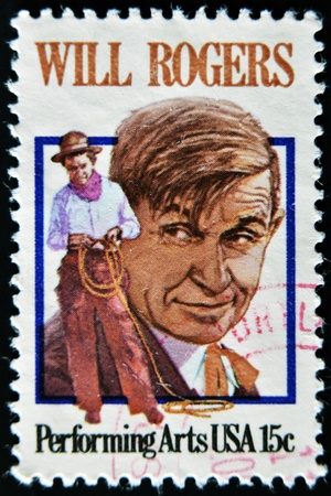 william penn: USA - CIRCA 1979 - Stamp printed in USA showing William Penn Adair Will Rogers, circa 1979  Editorial