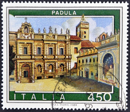 ITALY - CIRCA 1984: A stamp printed in Italy shows Padula, circa 1984  Stock Photo - 11878820