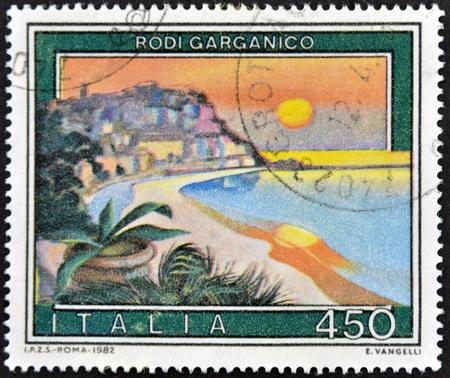 rodi garganico: ITALY - CIRCA 1982: A stamp printed in Italy shows Rodi Gargano, circa 1982 Stock Photo
