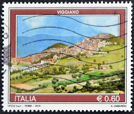 ITALY - CIRCA 2010: A stamp printed in Italy shows Viggiano, circa 2010 Stock Photo - 11813647