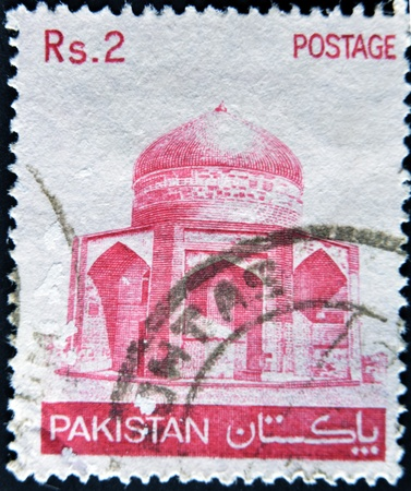 PAKISTAN - CIRCA 1979: A stamp printed in Pakistan shows image of mosque, circa 1979  photo