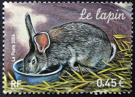 FRANCE - CIRCA 2004: A stamp printed in France shows a rabbit, circa 2004