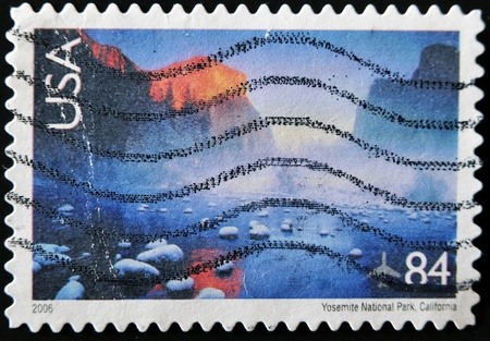 UNITED STATES OF AMERICA - CIRCA 2006: A stamp printed in USA shows Yosemite National Park, California, circa 2006 photo
