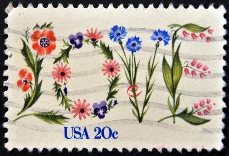 UNITED STATES - CIRCA 1982: A stamp printed in USA shows International Peace Garden, circa 1982.  photo