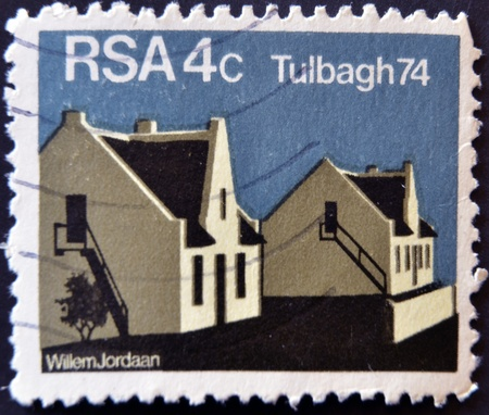 REPUBLIC OF SOUTH AFRICA - CIRCA 1974: A stamp printed in Republic of South Africa shows image of Tulbagh 74, circa 1974  Stock Photo