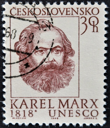 CZECHOSLOVAKIA - CIRCA 1968: A stamp printed in Czechoslovakia shows Karls Mark, circa 1968 Stock Photo - 11951636