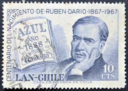 CHILE - CIRCA 1967: A stamp printed in chile shows Ruben Dario, circa 1967