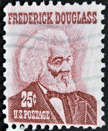 cancelled stamp: UNITED STATES OF AMERICA - CIRCA 1973: a stamp printed in USA shows Frederick Douglass, leader of the abolitionist movement, circa 1973