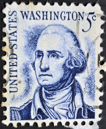 UNITED STATES OF AMERICA -CIRCA 1966: A stamp printed in USA shows image of the George Washington, circa 1966.