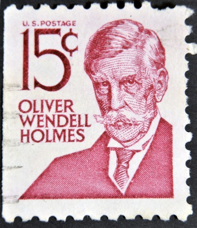 UNITED STATES OF AMERICA - CIRCA 1968: a stamp printed in USA shows Oliver Wendell Holmes, poet and physician, circa 1968  Stock Photo - 12201263