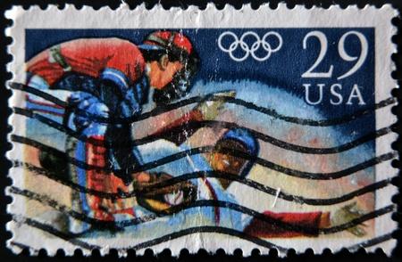 UNITED STATES - CIRCA 1992: stamp printed in USA shows baseball, circa 1992  Stock Photo - 12207273