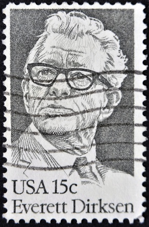 UNITED STATES - CIRCA 1981: A stamp printed in USA shows Everett Dirksen, circa 1981  Stock Photo - 12201306