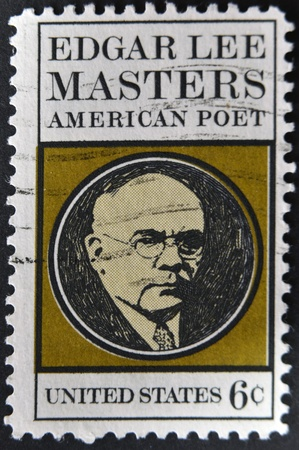 UNITED STATES - CIRCA 1970: stamp printed in USA shows Edgar Lee Masters, circa 1970  Stock Photo - 12201304