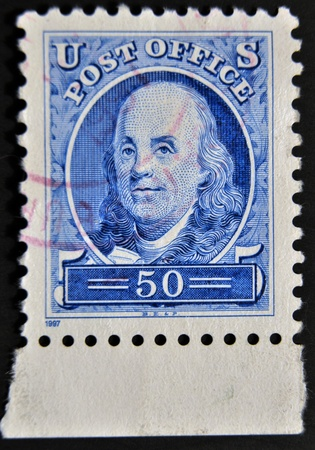 UNITED STATES OF AMERICA - CIRCA 1997:A stamp printed in USA shows George Washington, circa 1997
