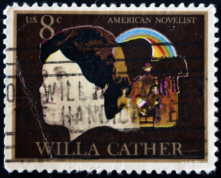 usps: UNITED STATES - CIRCA 1973: stamp printed in USA shows Willa Cather, circa 1973
