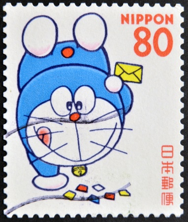 JAPAN - CIRCA 2000: A stamp printed in japan shows Doraemon , circa 2000