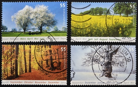 GERMANY - CIRCA 2006: stamp printed in Germany dedicated to the four seasons, circa 2006 photo