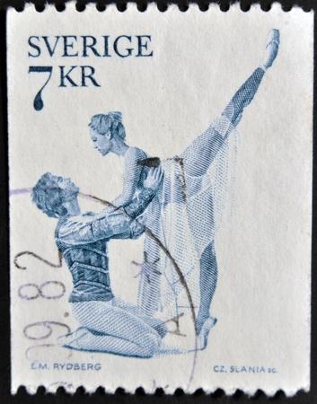 SWEDEN - CIRCA 1975: A stamp printed in Sweden shows Sergei Prokofievs ballet Romeo