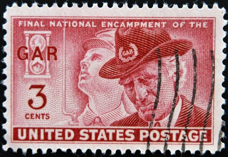 USA - CIRCA 1949: A stamp printed in the USA showing Final National Encampment of the GAR, circa 1949  Stock Photo - 12201356