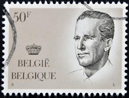 baudouin: BELGIUM - CIRCA 1980: A post stamp printed in Belgium shows King Baudouin, circa 1980