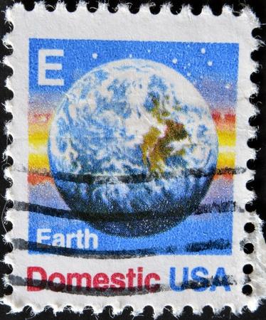 spacial: USA - CIRCA 1988: A stamps printed in USA showing the earth, circa 1988