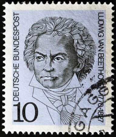 GERMANY - CIRCA 1970  A stamp printed in Germany show Ludwig van Beethoven, circa 1970