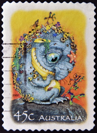 AUSTRALIA - CIRCA 2002: A stamp printed in Australia dedicated to The Magic Rainforest, circa 2002