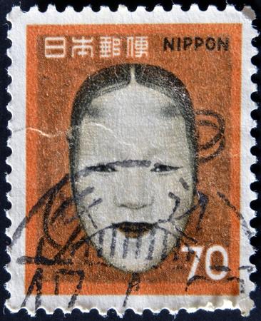 JAPAN - CIRCA 1961: A post stamp printed in Japan shows No-mask of Zoami (Muromachi period), circa 1961