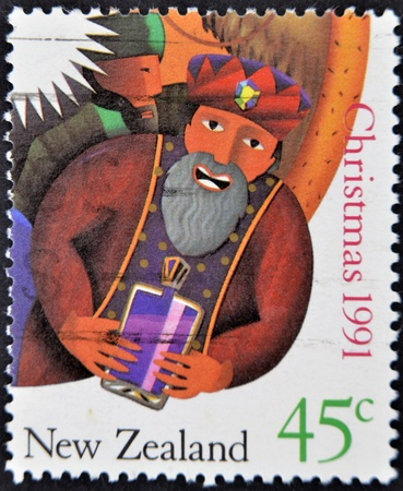 NEW ZEALAND - CIRCA 1991: A stamp printed in New Zealand shows Magi, circa 1991