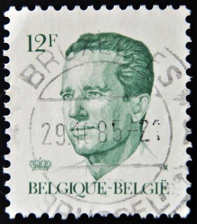 baudouin: BELGIUM - CIRCA 19867: A post stamp printed in Belgium shows King Baudouin, series, circa 1986  Editorial