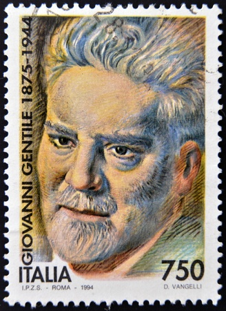 gentile: ITALY - CIRCA 1994  A stamp printed in Italy shows Giovanni Gentile, circa 1994