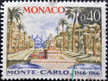 monaco: MONACO - CIRCA 1966  A stamp printed in Monaco dedicated to Monte Carlo, circa 1966