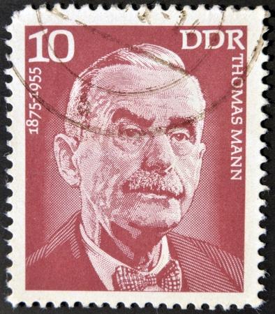 mann: GERMANY - CIRCA 1975: A stamp printed in GDR (East Germany) shows Thomas Mann, circa 1975