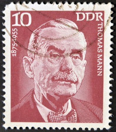 GERMANY - CIRCA 1975: A stamp printed in GDR (East Germany) shows Thomas Mann, circa 1975  Stock Photo - 12531951