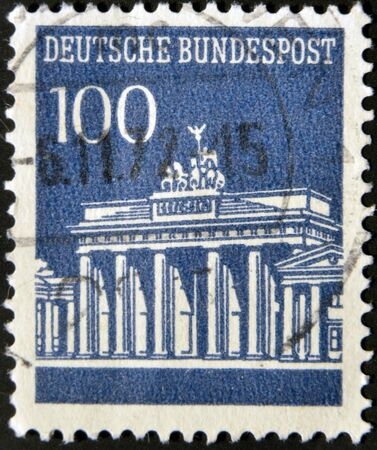 GERMANY - CIRCA 1965: A stamp printed in Germany shows Brandenburg Gate, circa 1965