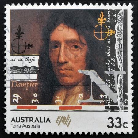 AUSTRALIA - CIRCA 1985: stamp printed in Australia shows William Dampier, circa 1985