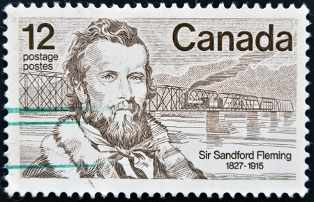 CANADA - CIRCA 1977: stamp printed in Canada shows Sandford Fleming, circa 1977