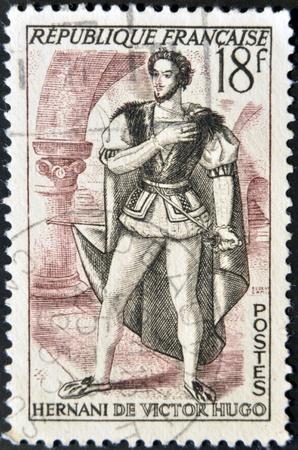 FRANCE - CIRCA 1952 : Stamp printed in France shows Victor Hugo, circa 1952