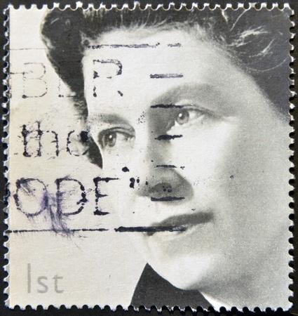 UNITED KINGDOM - CIRCA 2002: A stamp printed in Great Britain shows Queen Elizabeth II, circa 2002.  Stock Photo - 12531937