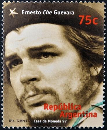 castro: ARGENTINA - CIRCA 1997: A stamp printed in Argentina shows Ernesto Che Guevara, circa 1997