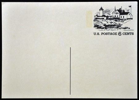 UNITED STATES OF AMERICA - CIRCA 1972: A old postcard printed in USA with an image of Gloucester, circa 1972